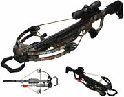 Barnett Bar78154 Explorer Xp400 W/ Scope Quiver Arrows And Rope Cocking Device