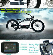 26 Fat Tires Fully Equipped Electric Bike Fenders Disc Brakes Stretch Bicycle