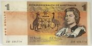 Australia 1967 One Dollar Coombs And Randall Starnote First Prefix Rare