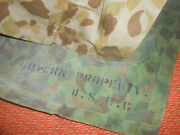 United States Coast Guard Wwii Ponchocamouflage Shelteror Tent Wwii
