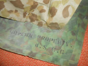 United States Coast Guard  Wwii Poncho,camouflage Shelter,or Tent Wwii