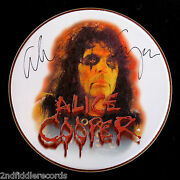 Alice Cooper-a Beautiful Autographed 14 Drumhead-w/full Letter Of Authenticity
