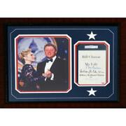 Bill And Hillary Clinton - Signed Custom Book Page - Psa