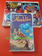 Disney Aladdin_the Return Of Jafar_the King Of Thieves_3 Vhs Tapes Sealed