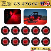 10x Red 3/4 Led Rock Light For Golf Cart Jeep Wrangler Offroad Underbody Light
