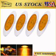 For Peterbilt Kenworth Lorry 16led Amber 4pcs Side Marker Truck Clearance Lights