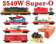 Lionel Pw 2549w Northern Pacific Gp-9 Super-o Set 5-cars W/outer Box 1960 Vg