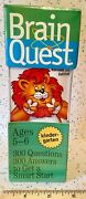 New Brain Quest Kindergarten 300 Questions And Answers Cards Ages 5-6