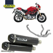 Ducati Monster S4r 2006 2007 Full Exhaust Arrow Round-sil Carbon Cc