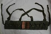 4 Chinese Military Sks Type 56 Semi Ammo Chest-rig Bandolier Pouch B Grade 4