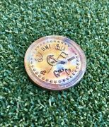 Hand-minted Copper/brass Coin Style Golf Ball Marker/hand Finished/michigan Made