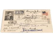 Jfk Inauguration Cachet With Postmark Dated May 29th, 1964 Signed By His Cabinet
