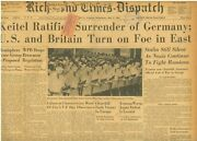Ve Day May 9 1945 German Surrenders Churchill Official End Of War Stalin Silent
