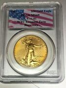 1991 Ms69 50 Gold Eagle Pcgs Wtc World Trade Center 911 Recovery Cool Toning