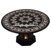 24 Marble Top Coffee Table With Stand Mother Of Pearl Inlay Home Decor E113