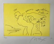 Rare 1989 Peter Max Angel Of Light Lithograph From Angels Suite Signed 63/100