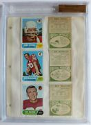 1968 Topps Football File Copy Binder Page 6 Players 12 Cards Bgs 1 Of 1