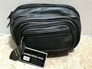 Size Large - Roma Leathers 7070lr Concealed Carry Leather Fanny Pack - Black