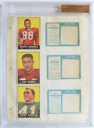 1961 Topps Football File Copy Binder Page 3 Players 6 Cards Bgs 1 Of 1