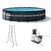 Swimming Pool Set With Pump 18 X 52 Ultra Xtr Frame Round Above Ground
