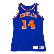 Cleveland Cavaliers 14 Bobby Phills Game Worn Champion Jersey. Size 44 + 4