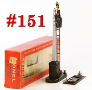 Lionel Pw 151 Semaphore Signal W/145c Contactor And Display Box /19/ 1956-57