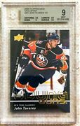 2009 Upper Deck Exclusives John Tavares Young Guns Ssp /100 Bgs 9 Maple Leafs