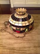 Hanging Stained Glass Ceiling Light Lamp Shade Vintage