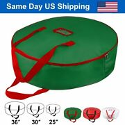 Christmas Xmas Wreath Storage Bag With Handles For 25 30 36 Wreath Clean Up
