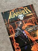 Vintage The Punisher Comic Book Promo Poster 24x36 Unused 2001