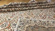 Late 1940and039s Antique Muted Natural Colors Wool Pile Hereke Area Rug 6andrsquo6andrdquox9andrsquo5andrdquo