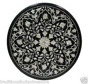 2and039 Marble Side Corner Table Top Mother Of Pearl Stone Mosaic Art Handmade Decor