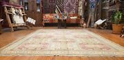 Traditional Vintage 1960-1970and039s Muted Dye Wool Pile Area Rug 6and0395andtimes9and0397