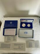 1986 Liberty Silver Dollar And Half Dollar Proof Mint Coin Set