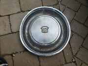Vintage 1974-1976 Cadillac 15 Wheel Cover Hub Cap Dinged Up As Is