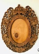 C1860s China Trade Picture Frame With Bat Carving From Golden State Clipper Ship