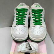 Nike 2004 Dunk Low Pro Sb White X Green Menand039s Sneakers 27.5 Cm Us 9.5 Rare Used