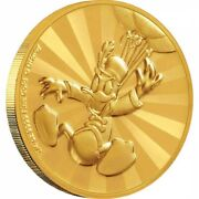 Mickey And Friends Donald Duck Carnival 1/4 Oz Gold Coin 25 Niue 25 Dollars 2019