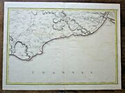 1777 Andrews Sussex Rye Hastings Eastbourne Antique Map '65 Miles Round London'