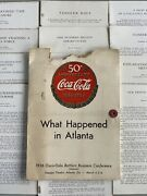 Antique 1936 Coca-cola Bottlers Business Conference Folder Convention Speeches