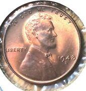 1948 S Lincoln Wheat Penny Nice Ms Mint State Graded Fairly Bu Unc Uncirculated