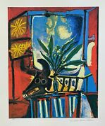 Pablo Picasso Bull Head With Plant Estate Signed And Numbered Large Giclee Art