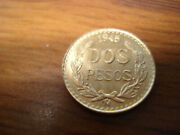 One Bu 1945 2 Peso .900 Gold Coin 1.6666 Grams 21.6 Kt From A Lot Of 2