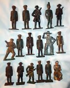 Vintage Antique Barclay Metal Toy Lead Figures Army Soldier Lot