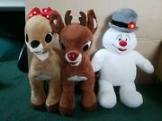 Build A Bear - Rudolph, Clarice, Frosty Lot - See Description