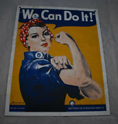7.5 X 9.5 We Can Do It Ww2 Ad Ande Rooney Porcelain Sign Rosie The Riveter