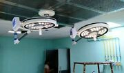 Ceiling Surgical Operation Light Double Dome Hospital Led Ot Light Cold Light