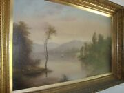 Antique Monumental Germany Landscape Painting Early 19th Canvas Oil
