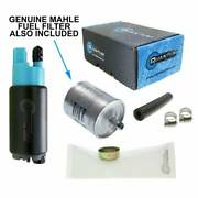 Quantum Intank Fuel Pump W/strainer And Mahle Fuel Filter For Bmw Hp2 2004-2010