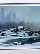 Rare Listed Alexander Chen 1980 Seriolithograph Numbered Signed Ny Central Park